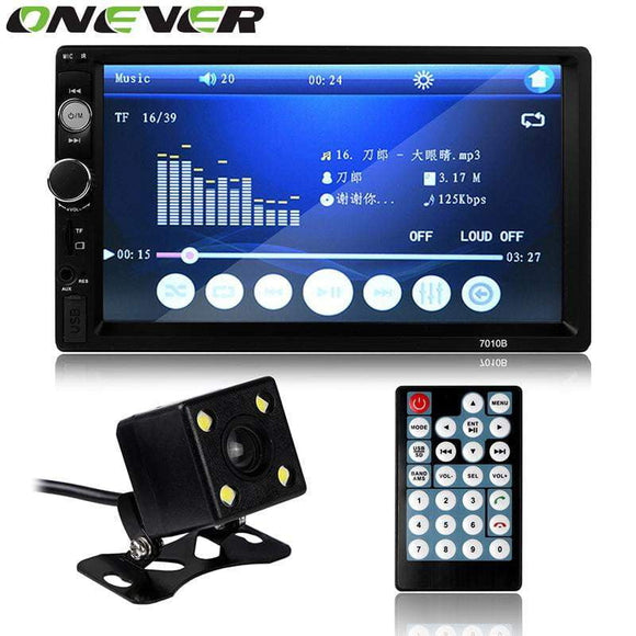 Car FM Radio MP3 MP5 Player In Dash Touch Bluetooth Stereo Video 2 din 7 inch Handsfree