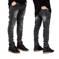2016 Men Skinny Jeans Men Runway Slim Racer Biker Jeans Strech Hiphop Jeans For Men Y2036 - inaaz.biz