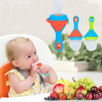 2017 New 1Pcs Food Nibbler Baby Pacifiers Nibler Nipple Pacifiers for Baby Fruit Feeder Nipples Feeding Safe Nipple Pacifier - inaaz.biz