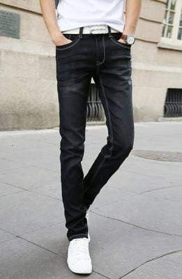2017 New Fashion Men's Casual Stretch Skinny Jeans Trousers Tight Pants Solid Colors - inaaz.biz