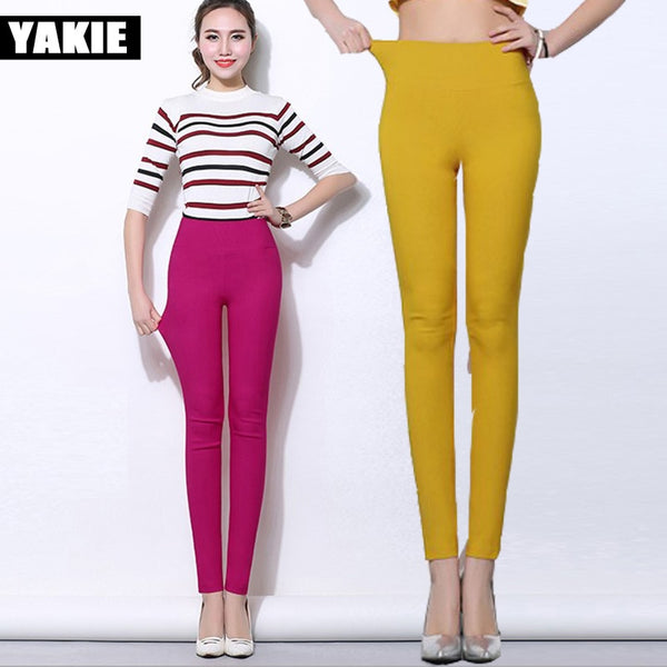 Women Pant Spring summer high elastic waist stretch cotton pencil pants , trousers Plus size 5XL