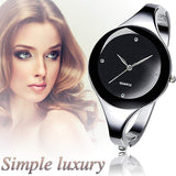 2017 Women Bracelet Watches Crystal Dress Ladies fashion Stailess Steel Round Dial unique designer quartz-watch montres femme - inaaz.biz