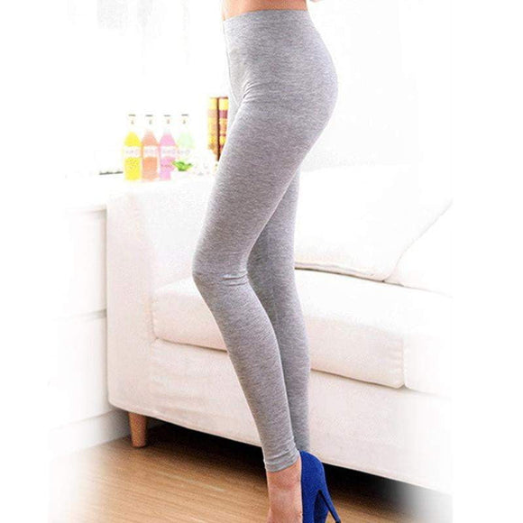 98ac5116a5c 2018 Free shipping Summer Style Candy Color Women Cropped Leggings 3 4  Length Lady Leggins