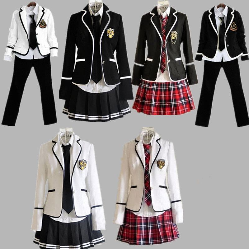 730d1554f73758 2018Students long-sleeved school uniforms Japan and South Korea JK uniforms  junior high school boys and girls students suit