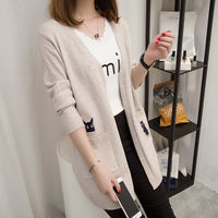 2019 new autumn winter long knitting women sweater female casual cute loose shrug ladies fashion warm cardigan comfortable jumper - inaaz.biz