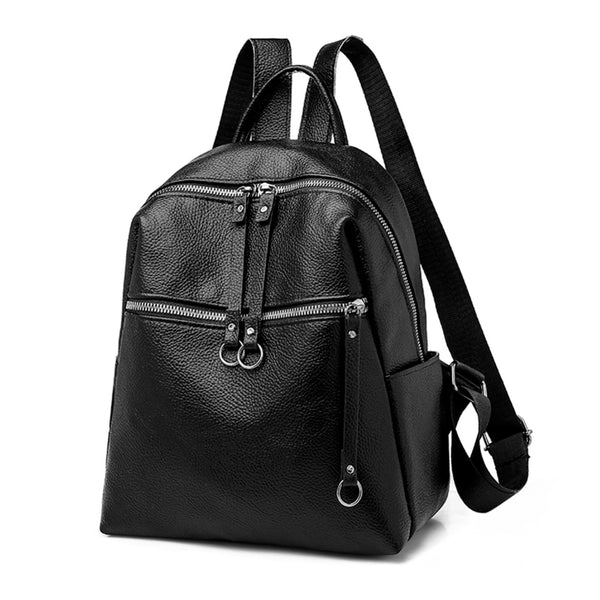 2019 Fashion Women Backpacks Soft PU Leather Backpack Shoulder Daypack Female Rucksack Mochilas Mujer Casual School Bag for Girl - inaaz.biz