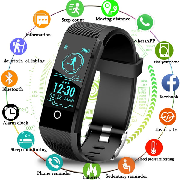 Smartwatch 2019 New Fitness Tracker Pedometer Blood Pressure Heart Rate Monitor ios Android - inaaz.biz