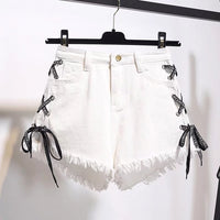 Fashion Shorts Jeans Female Sexy High Waist Denim Shorts New Burr Hole Loose Jeans Shorts