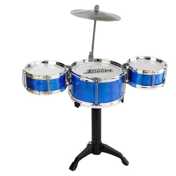 Drum Set 3-Piece Kids  Children Junior Jazz Drums Percussion Music Instrument