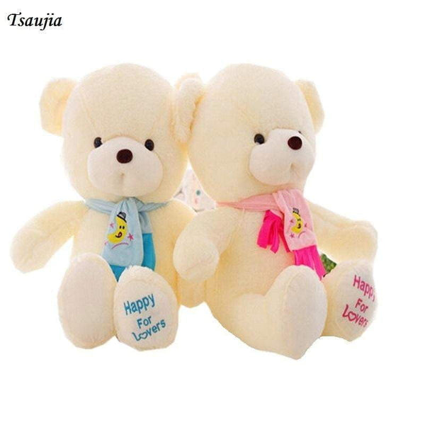 30cm Teddy Bear With Scarf Tsaujia Plush Stuffed Brinquedos Baby Gift Girls Toys Wedding And Birthday Party Decoration KF495