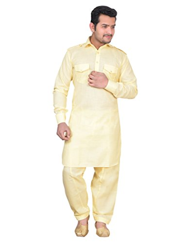 Men Paithani Salwar Suit Slks India Craft Men's Cotton Pathani Salwar Suit - inaaz.biz