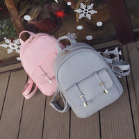 3pcs/Set Simple Composite Bag Women PU Leather Backpack Women Bags Shoulder Bags for Teenage School Backpack Rucksack Mochila - inaaz.biz