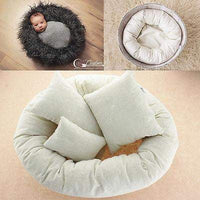 4Pcs Newborn Photography Props Cycle Ring Round Shape Pillow Baby Photo Prop Backdrop Basket Stuffer atrezzo fotos