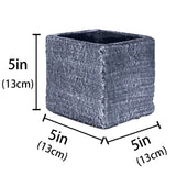 5 Inch ,6 Inch Cement Square Succulent Cactus Planter Plant Containers Flower Pots Windowsill Planter - inaaz.biz
