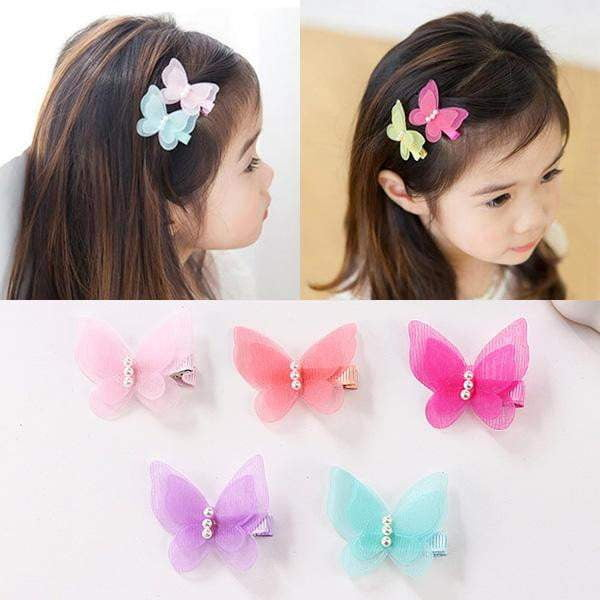 NEW Pretty Canvas Bow Hair Clips UK Seller 5 Colours