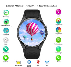 Smartwatch Phone 696 Original KingWear KW88 Android 5.1 1.39'' Screen 3G  512MB 4GB GPS