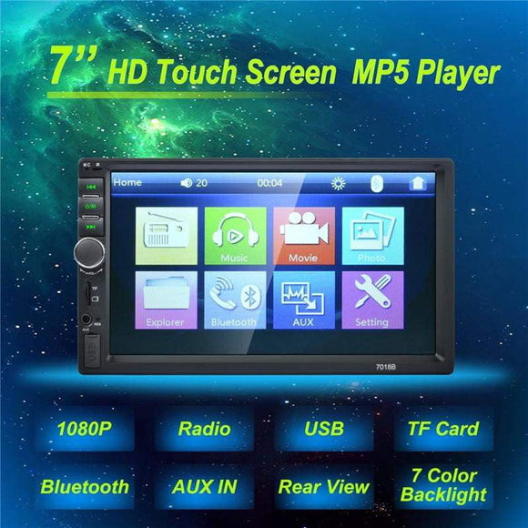 Car Video MP5 Player  7 Inch 2 DIN autoradio Touch Screen Bluetooth TF SD MMC USB FM camera Stereo