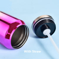 720ml Large Capacity Straw Thermos Mug Colorful Cans Stainless Steel Vacuum Flask Leak-Proof Thermal Water Bottle Nice Gifts - inaaz.biz