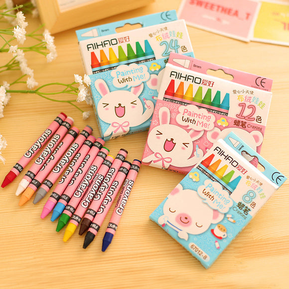 8/12/24/48 Colors Crayon pastel art pen Drawing painting Graffiti Pen For Kids School Office Supplies Stationery Gifts