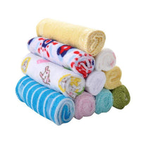 8 pcs/lot Baby feeding towel Baby cotton towel Baby face cleaning towel Baby handkerchiefs headband - inaaz.biz