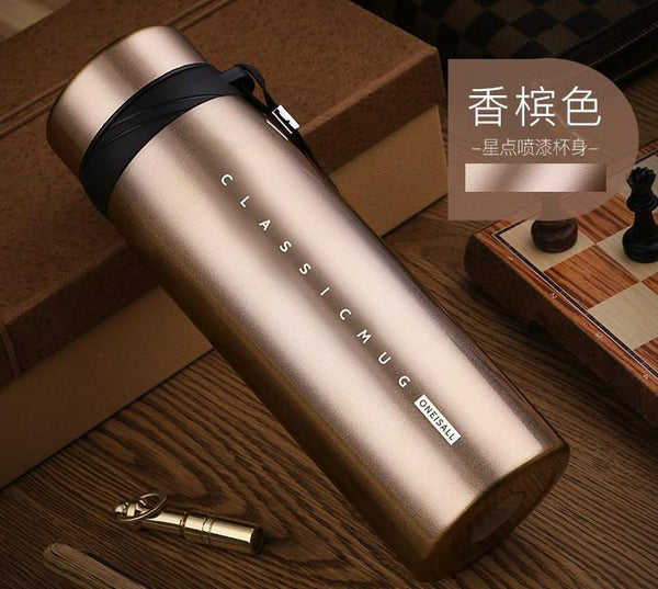 900ml Thermo Mug Thermos Bottle for Tea Coffee Insulated Vacuum Flask with Tea Infuser Tumbler Coffee Mug Vacuum Flask