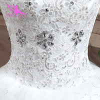 AIJINGYU 2019 beautiful free shipping new hot selling cheap ball gown lace up back formal bride dresses wedding dress WK316