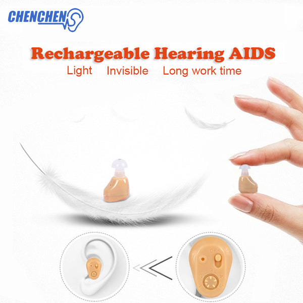 Adjustable Hearing AID Ear Care Mini In-ear Rechargeable Hearing AIDS for Elderly Sound Amplifier Ear Care