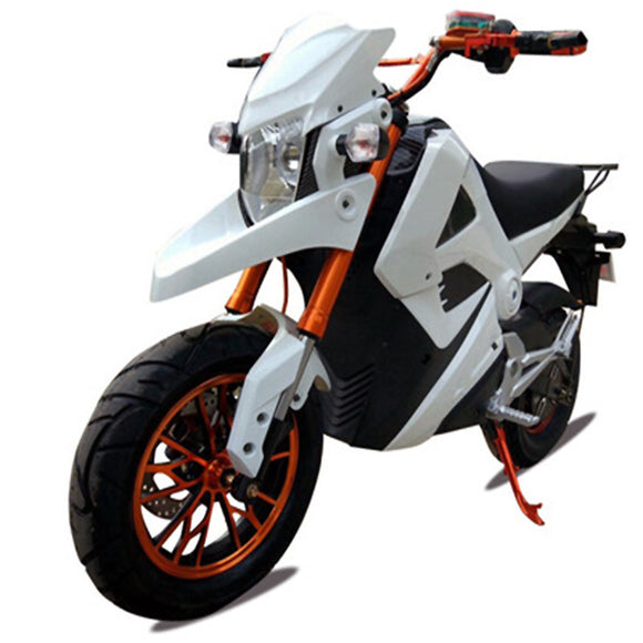 Electric motorcycle 70V 2000w range  & speed 60 km drum brake system electric e-bike