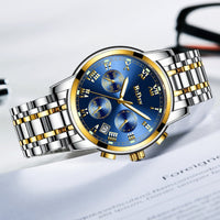 BIDEN Top Brand Luxury Chronograph Date Mens Watches Military Sport Male Clock Steel Strap Business Wrist Quartz Men Watch