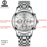 BIDEN Top Brand Luxury Chronograph Date Mens Watches Military Sport Male Clock Steel Strap Business Wrist Quartz Men Watch - inaaz.biz
