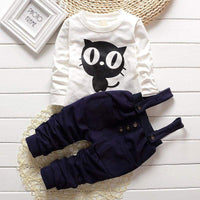 Baby Boy Clothes Spring Autumn OWL Print Long T-shirt Tops and Pants 2PCS Outfits Kids Jogging Suit