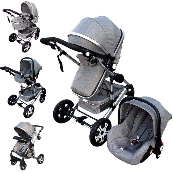 Baby Stroller 3 In 1  Kids Pram Car Seat Stroller For New Newborns kinderwagen bebek arabasi - inaaz.biz