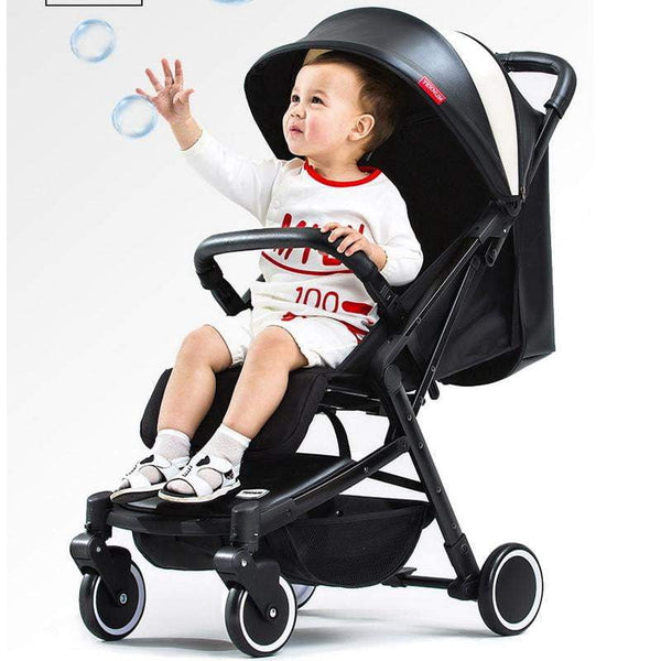 Baby Stroller Ultra Light Can Be Lying Laptop Canopy Folding Mini Four Wheel Child Trolley - inaaz.biz