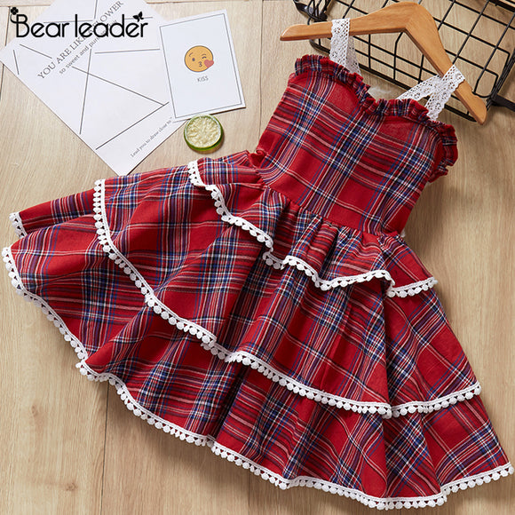 Girls Dress New Summer Casual Style Sweet Short Sleeve Floral Print Square Collar Design
