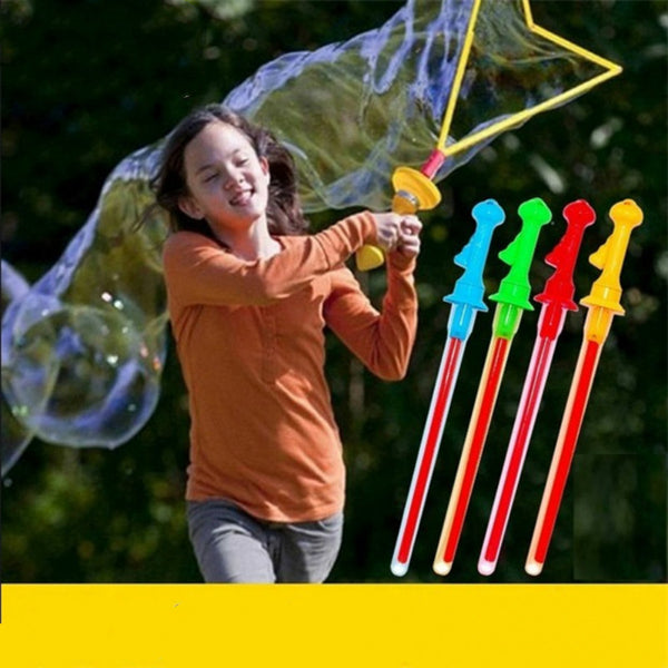 Big Size 46cm Outdoor Toys Long Bubble Machine Gun Bar Sticks Without Water Western Sword Shape For Kids Soap Bubble Toy