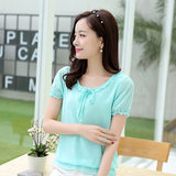 Blouses Women Tops Summer Lace Chiffon Shirts