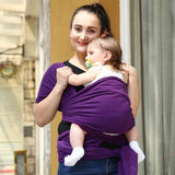 Breathable baby wrap and carrier backpack for infant, comfortable fashion designed cotton baby sling for newborns - inaaz.biz