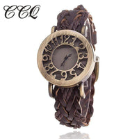CCQ Women Vintage Quartz Watches, Bracelet Watches, Braided Women  Watches