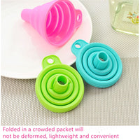 CHASANWAN1pcs Mini Silicone Foldable Funnel Hopper Kitchen Cozinha Cooking Tools Cuisine Kitchen  Accessories Kitchen Gadgets