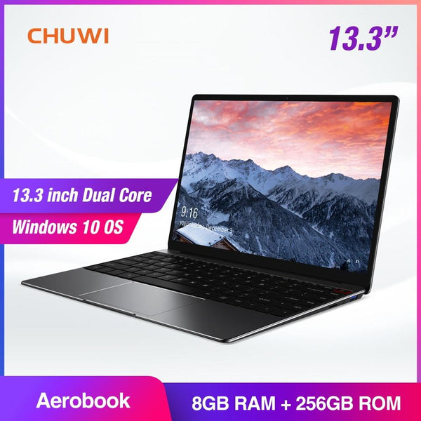 Laptop CHUWI AeroBook 13.3 Inch Intel Core M3 6Y30 Windows 10 8GB RAM 256GB SSD Backlit KB Notebook