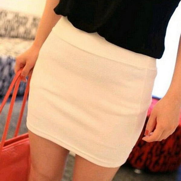 Women Short Skirts CUHAKCI 2019 Fashion Sexy Lady Candy Color Mini-Skirt