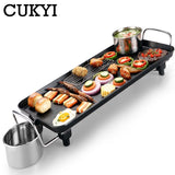 Electric Oven, Smokeless Nonstick Barbecue Machine, CUKYI Electric hotplate Grilled Meat Pan - inaaz.biz