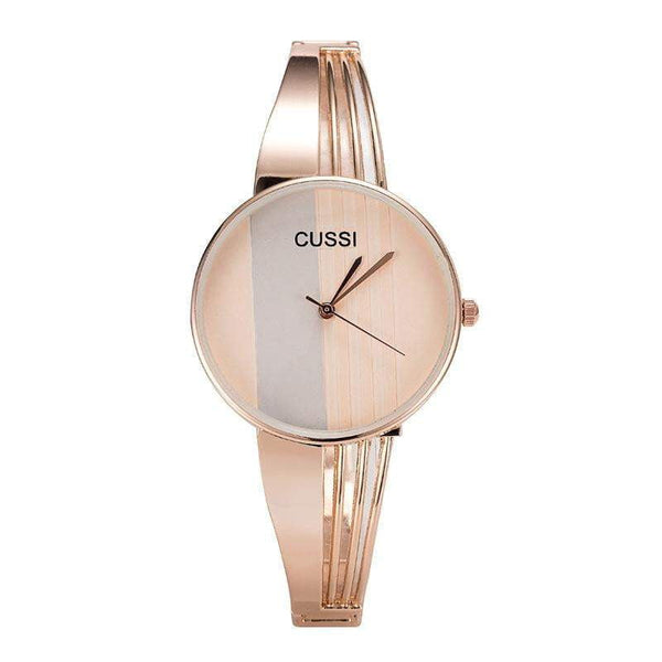 CUSSI Top Brand Silver Womens Watches Quartz Wristwatches Luxury Ladies Bracelet Watches Fashion Dress Watches relogio feminino