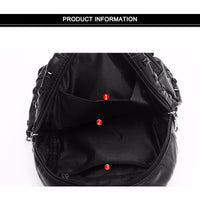 Casual Sheepskin Backpack Good Quality Leather Backpack Soft Waterproof Girl Lightweight Bag Large Capacity Elegant Female Bag