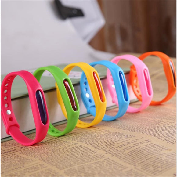 Colorful Environmental Protection Silicone Wristband Summer Mosquito Repellent Bracelet Anti-mosquito Band