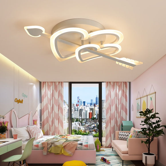 Cupid Design Modern led chandelier for living room bedroom wedding room girl room white color dimmable chandelier