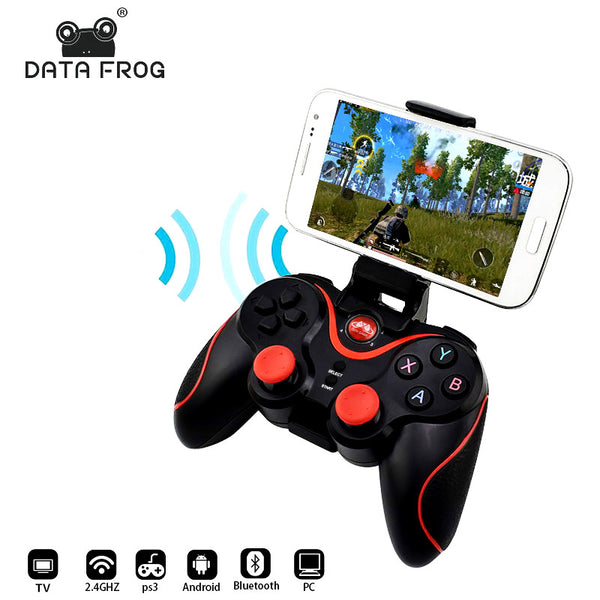 Game Controller Data Frog Wireless Bluetooth Gamepad For Android Smart Phone and  PS3 PC Laptop Gaming Control - inaaz.biz