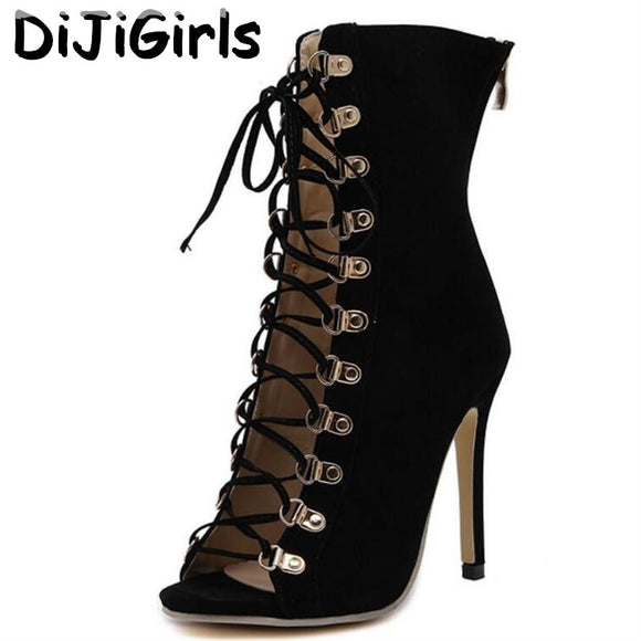 d8ffd61222 DiJiGirls Fashion Gladiator High Heels Women Sandals Genova Stiletto Sandal  Booties Open Toe Lace Up Pumps