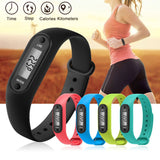 Digital LCD Silicone Wirstband Pedometer Run Step Walking Distance Calorie Counter Wrist Women&Men Sport Fitness Watch Bracelet