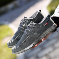 Dwayne Canvas Men Shoes Denim Lace-Up Men Casual Shoes New 2019  Breathable Male Footwear - inaaz.biz